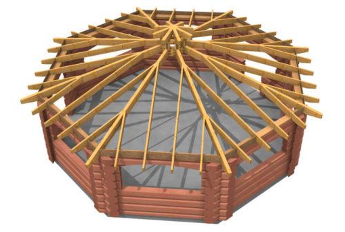 Стропильная система для гриль-домика