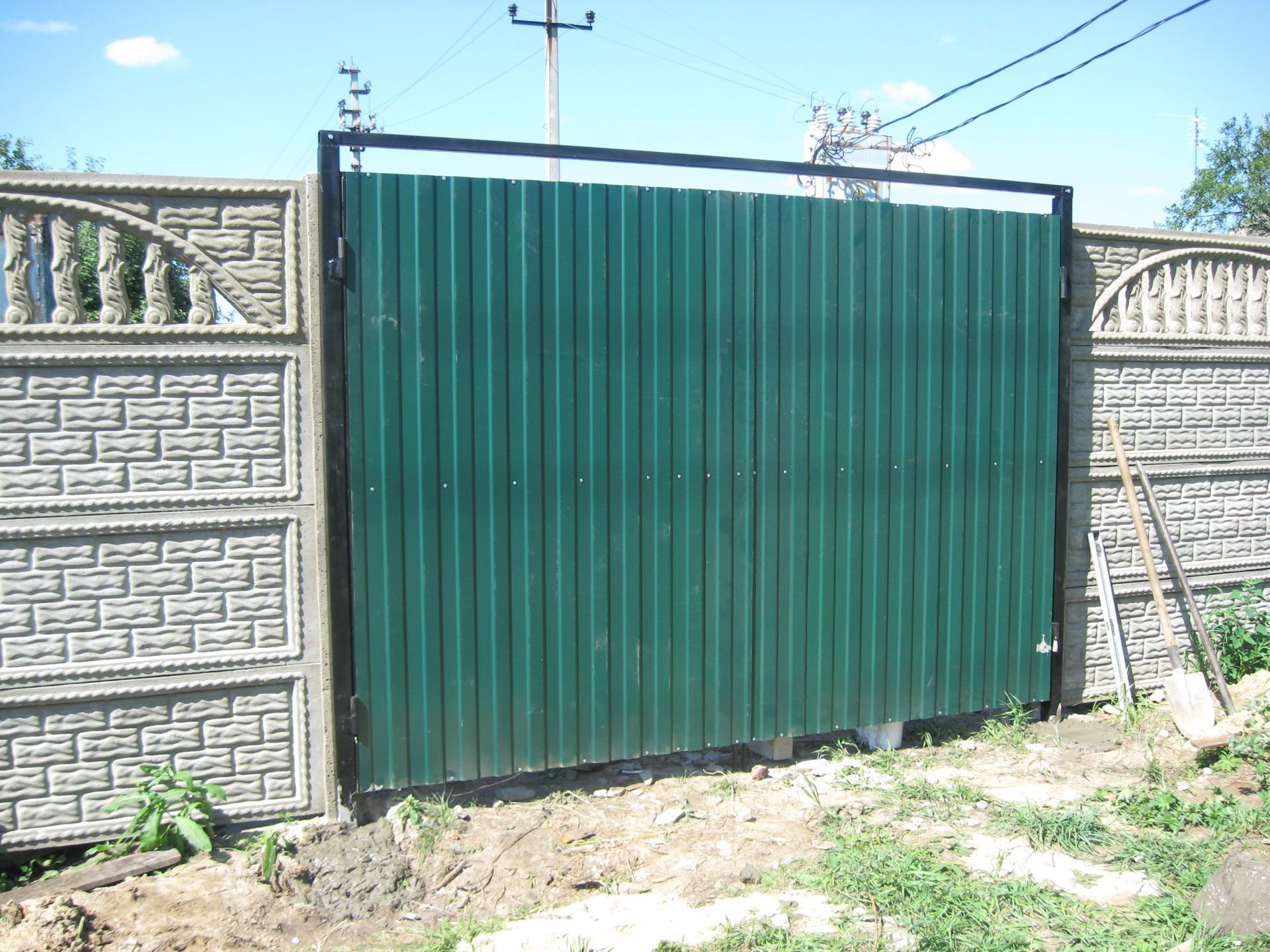 видите фото забор из профнастила своими руками сделала свой