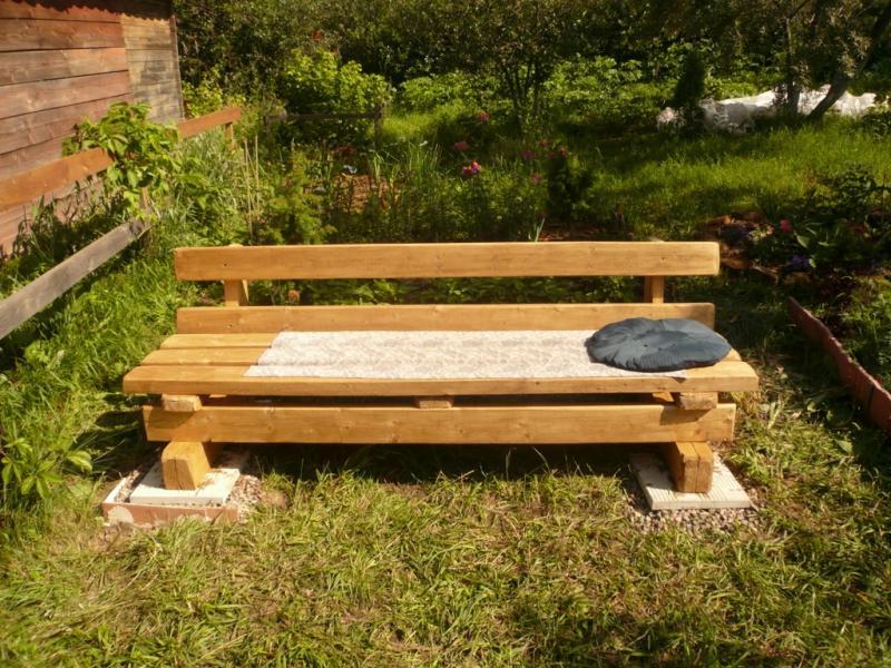 Садовая скамейка из паллет