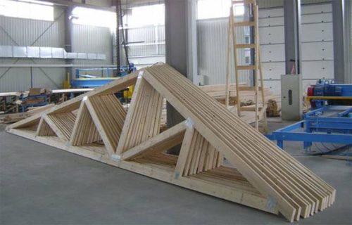 Стропила двухскатной крыши