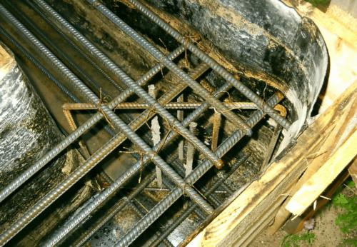 Армирование фундамента для бетонного забора