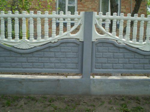 Бетонный забор с эффектным верхом