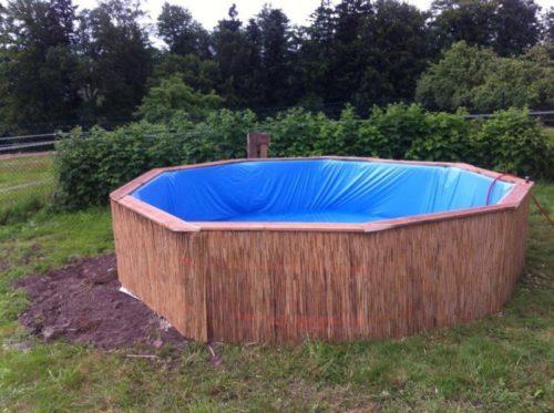 Готовый вариант бассейна из поддонов