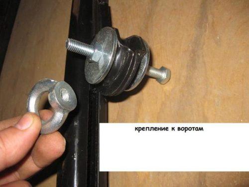 Крепление привода автоматических ворот