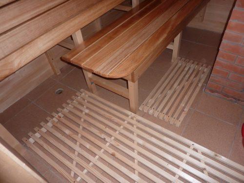 Моечная в бане с бетонным полом