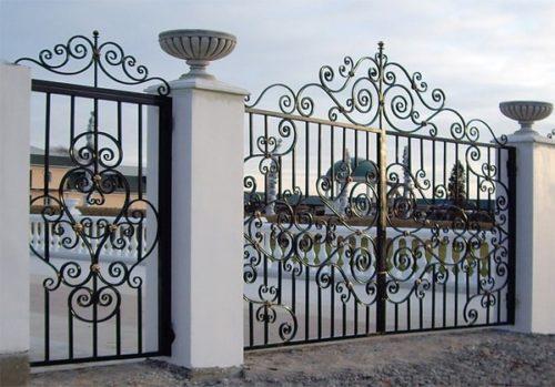 Ворота распашные своими руками фото фото 194