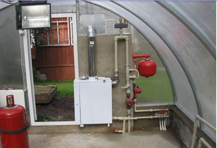 Газовое отопление в теплице из поликарбоната