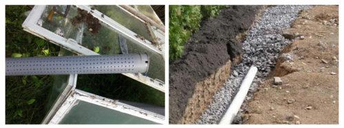Подготовка и укладка трубы канализационной системы