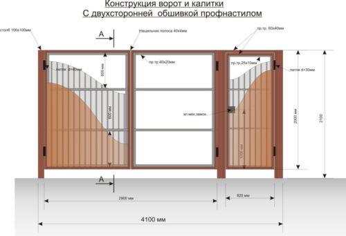 Откатные ворота своими руками чертежи схемы эскизы