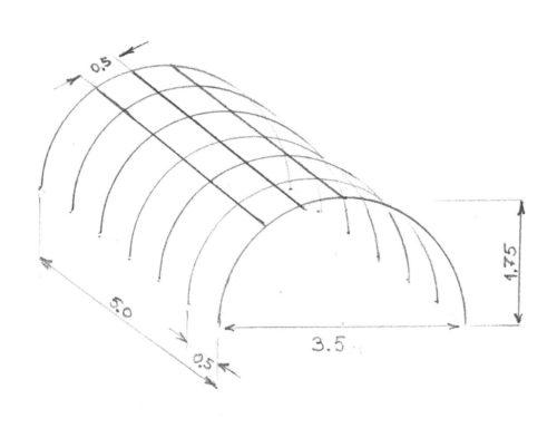 Схема арочной теплицы из полиэтиленовых труб