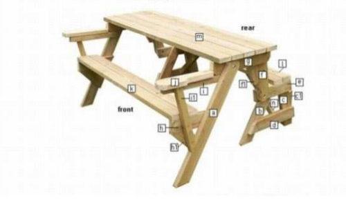 Как сделать лавку-стол трансформер 707