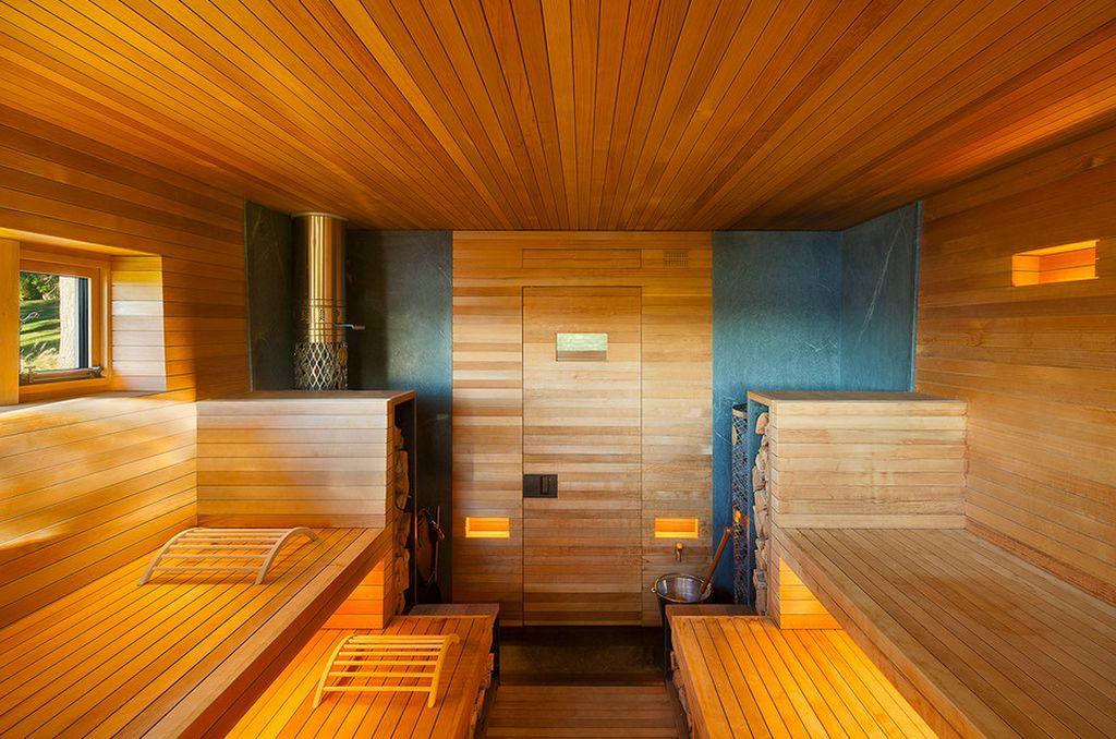 Дизайн бани парилки внутри