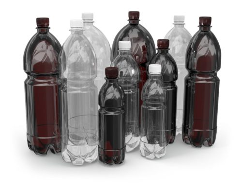 Разноцветные пластиковые бутылки