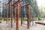 Деревянный спортивный комплекс