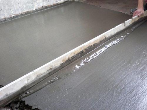 Выравнивание бетонной стяжки