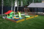 Детская площадка с заборчиком