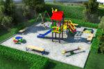 Детская площадка на покрытии