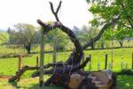 Детская площадка из спиленного дерева