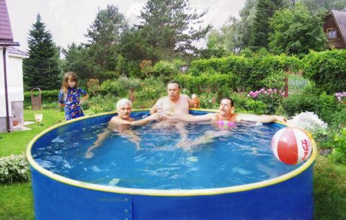 Сборный бассейн с листовым каркасом
