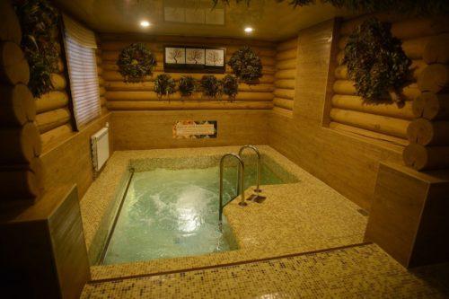 Бассейн внутри бани