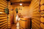 Деревянная купель с подогревом в бане