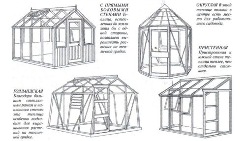 Модели деревянных теплиц
