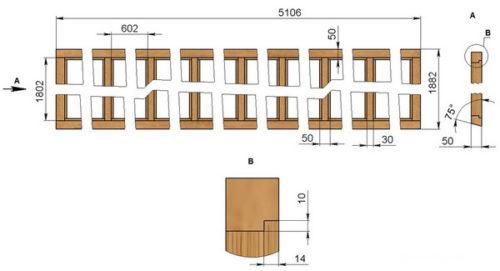 Схема изготовления торцевой рамы