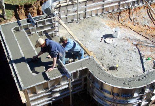 Укладка бетона