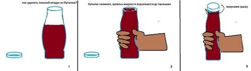 Убираем лишний воздух из бутылки