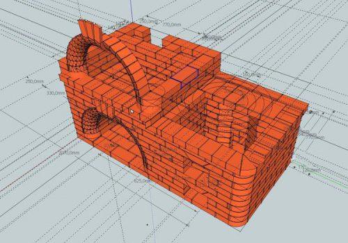 Кладка фронтальной арки из обычного кирпича