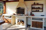Барбекю на летней кухне