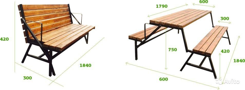 Как сделать стол скамейка своими руками фото 883