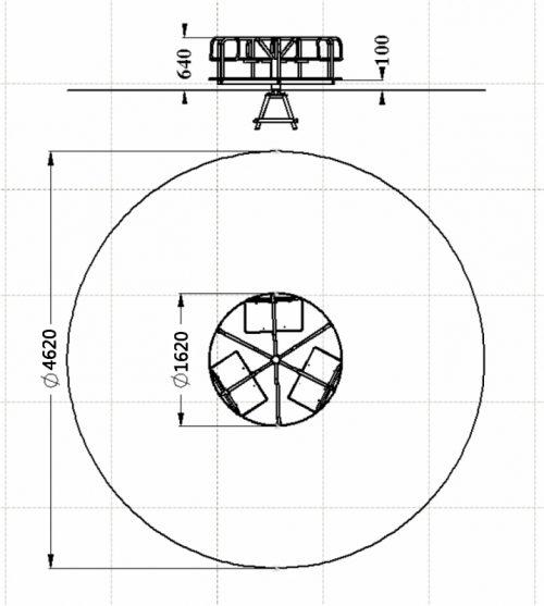 Схема карусели «вращающаяся платформа»