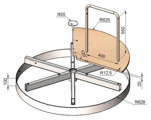 Схема сборки элементов карусели