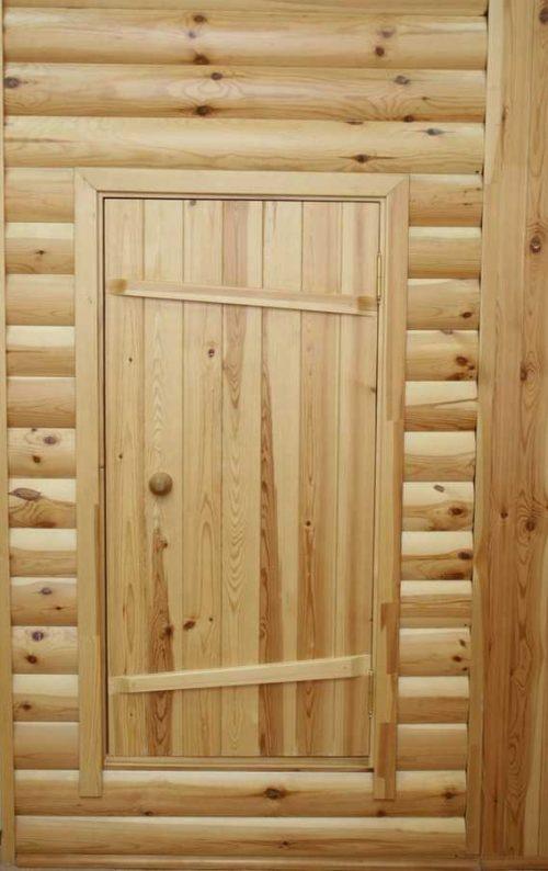 Деревянная дверь со шпонками