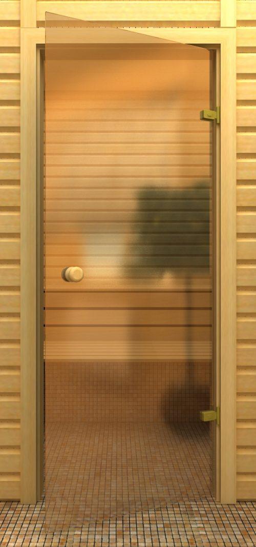 Стеклянная тонированная дверь