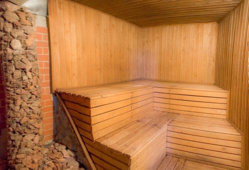 Пример отделки парилки в бане