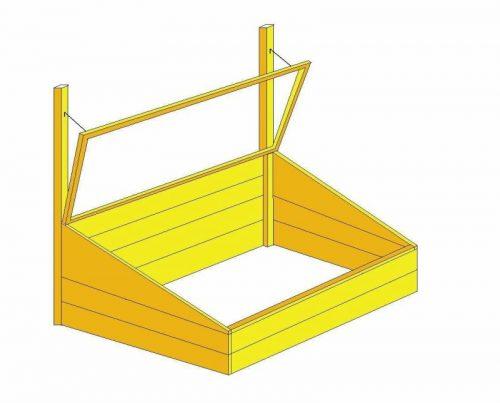Пример каркаса для парника со стеклянной крышей