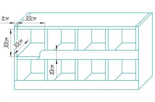 Схема изготовления гнёзд для курятника