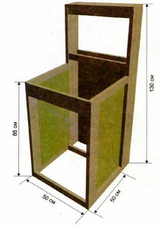 Схема тумбы под умывальник из дерева