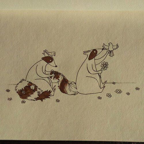 нарисованные еноты
