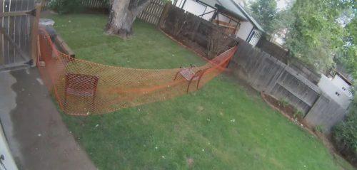 сетка во дворе