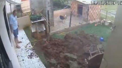 взрыв в огороде